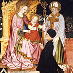 Metropolitan Museum: part 2 - Master G.Z - Madonna and Child with the Donor, Pietro de' Lardi, Presented by Saint Nicholas