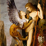 Oedipus and the Sphinx, Gustave Moreau
