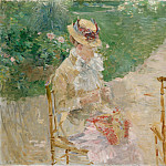 Berthe Morisot – Young Woman Knitting, Metropolitan Museum: part 2