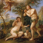 Charles Joseph Natoire – The Expulsion from Paradise, Metropolitan Museum: part 2