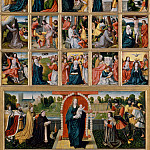 Netherlandish Painter , about 1515–20 – The Fifteen Mysteries and the Virgin of the Rosary, Metropolitan Museum: part 2