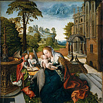 Bernard van Orley – Virgin and Child with Angels, Metropolitan Museum: part 2