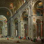 Interior of Saint Peter's, Rome, Giovanni Paolo Panini