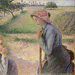 Two Young Peasant Women, Camille Pissarro