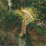 Bather in the Woods, Camille Pissarro