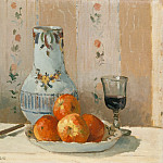 Still Life with Apples and Pitcher, Camille Pissarro