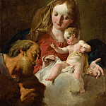 The Holy Family, Giovanni Battista Pittoni