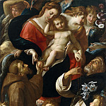 Giulio Cesare Procaccini – Madonna and Child with Saints Francis and Dominic and Angels, Metropolitan Museum: part 2