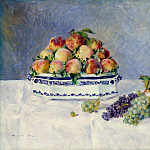 Auguste Renoir – Still Life with Peaches and Grapes, Metropolitan Museum: part 2