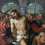 Metropolitan Museum: part 2 - Girolamo Romanino - The Flagellation; (reverse) The Madonna of Mercy