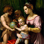 Andrea del Sarto – The Holy Family with the Young Saint John the Baptist, Metropolitan Museum: part 2