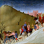 Metropolitan Museum: part 2 - Sassetta (Italian, Siena or Cortona ca. 1400–1450 Siena) - The Journey of the Magi