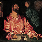 Giovanni Gerolamo Savoldo – Saint Matthew and the Angel, Metropolitan Museum: part 2