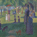Metropolitan Museum: part 2 - Georges Seurat - Study for A Sunday on La Grande Jatte