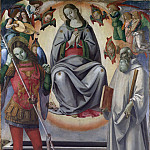Metropolitan Museum: part 2 - Luca Signorelli and Workshop - The Assumption of the Virgin with Saints Michael and Benedict