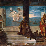 Metropolitan Museum: part 2 - Jacopo Tintoretto (Italian, Venice 1519–1594 Venice) - Doge Alvise Mocenigo (1507–1577) Presented to the Redeemer