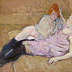 Henri de Toulouse-Lautrec – The Sofa, Metropolitan Museum: part 2
