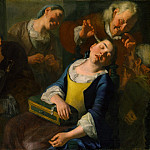 Gaspare Traversi – Teasing a Sleeping Girl, Metropolitan Museum: part 2