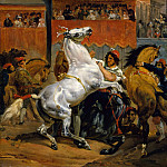 Horace Vernet – The Start of the Race of the Riderless Horses, Metropolitan Museum: part 2