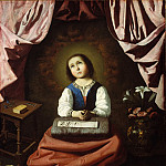 Francisco de Zurbarán – The Young Virgin, Metropolitan Museum: part 2
