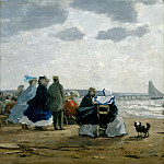 Eugène Boudin – On the Beach, Dieppe, Metropolitan Museum: part 2
