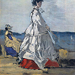 Princess Pauline Metternich () on the Beach, Eugene Boudin