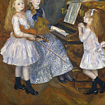 Auguste Renoir – The Daughters of Catulle Mendès, Huguette , Claudine , and Helyonne , Metropolitan Museum: part 2