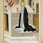Metropolitan Museum: part 2 - Giovanni di Paolo (Italian, Siena 1398–1482 Siena) - Saint Catherine of Siena Exchanging Her Heart with Christ