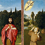 Metropolitan Museum: part 2 - Gerard David - Saint John the Baptist; Saint Francis Receiving the Stigmata