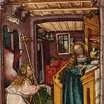 German Painter, 1440–50 – The Annunciation, Metropolitan Museum: part 2