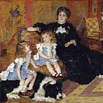 Metropolitan Museum: part 2 - Auguste Renoir - Madame Georges Charpentier (née Marguérite-Louise Lemonnier, 1848–1904) and Her Children, Georgette-Berthe (1872–1945) and Paul-Émile-Charles (1875–1895)
