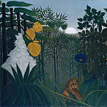 Metropolitan Museum: part 2 - Henri Rousseau (French, Laval 1844–1910 Paris) - The Repast of the Lion