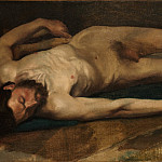 Male Nude, Edgar Degas