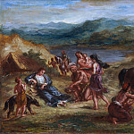Eugène Delacroix – Ovid among the Scythians, Metropolitan Museum: part 2