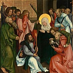 Metropolitan Museum: part 2 - Hans Schäufelein - The Dormition of the Virgin; (reverse) Christ Carrying the Cross