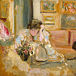 Jos and Lucie Hessel in the Small Salon, Rue de Rivoli, Edouard Vuillard