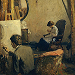 Metropolitan Museum: part 2 - Arthur Clifton Goodwin - Louis Kronberg in His Studio in Copley Hall