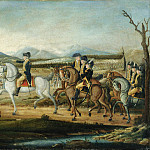 Metropolitan Museum: part 2 - Attributed to Frederick Kemmelmeyer - Washington Reviewing the Western Army at Fort Cumberland, Maryland