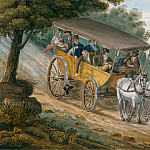 Pavel Petrovich Svinin – Travel by Stagecoach Near Trenton, New Jersey, Metropolitan Museum: part 2