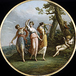 Metropolitan Museum: part 2 - Attributed to Antonio Zucchi - Three Dancing Nymphs and Reclining Cupid in Landscape