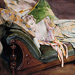 Irving Ramsey Wiles – The Green Cushion, Metropolitan Museum: part 2