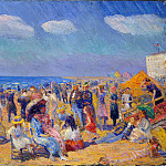 Metropolitan Museum: part 2 - William Glackens - Crowd at the Seashore
