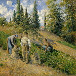 The Harvest, Pontoise (), Camille Pissarro