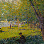 Georges Seurat – Study for A Sunday on La Grande Jatte, Metropolitan Museum: part 2