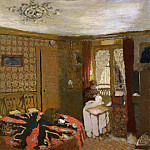 Metropolitan Museum: part 2 - Édouard Vuillard - Mme Vuillard Sewing by the Window, rue Truffaut