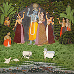 Unknown – Krishna and the Gopis Take Shelter from the Rain, Metropolitan Museum: part 2