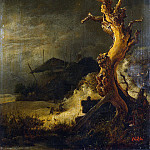 Ruisdael, Jacob van ai – Winter Landscape with dead tree, part 10 Hermitage