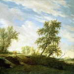 Ruisdael, Salomon van – Christ on the road to Emmaus, part 10 Hermitage