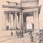 part 10 Hermitage - Premazzi, Luigi - Kazan Cathedral on the part of the Catherine Canal in St. Petersburg. Sketch