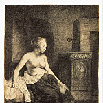 part 10 Hermitage - Rembrandt, Harmenszoon van Rijn - Half-naked at the stove